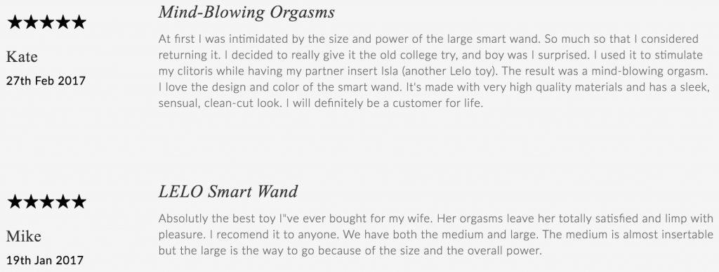Lelo Smart Wand large comments