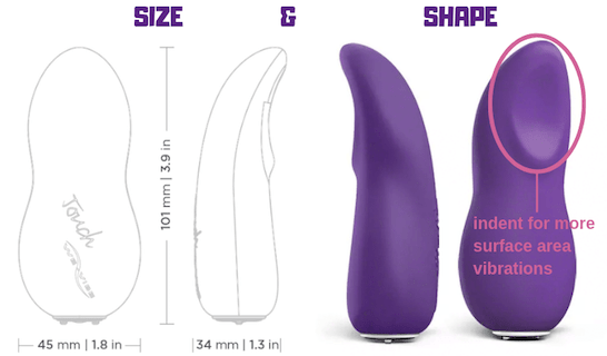 we-vibe touch size shape