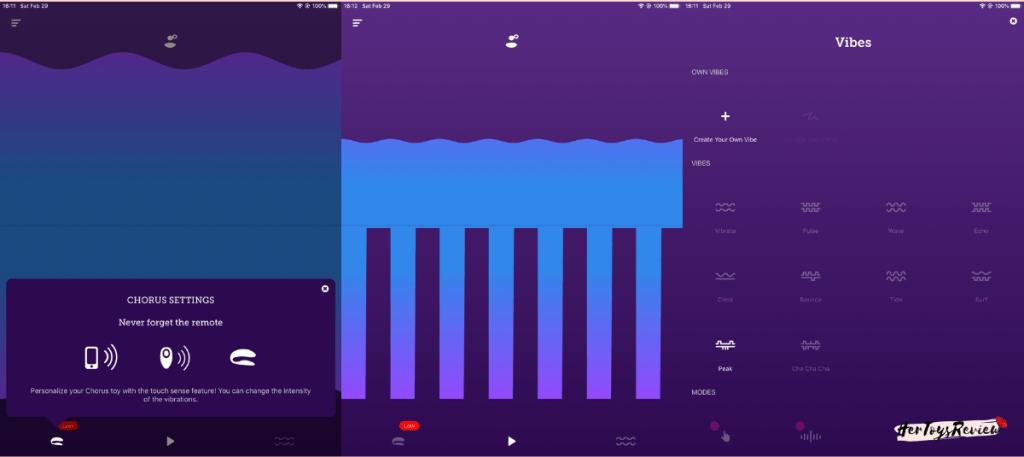 we-vibe chorus app functions