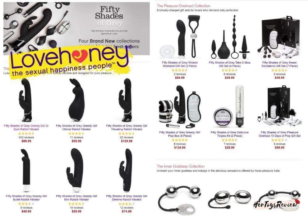 lovehoney fifty shades line